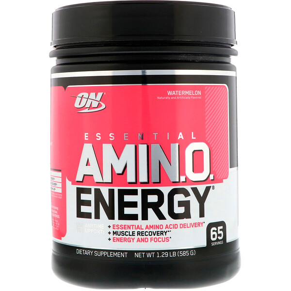 Optimum Nutrition, Essential Amin.O. Energy, Watermelon, 1.29 lb (585 g)