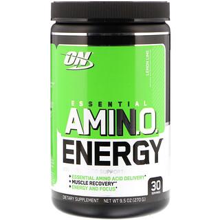Optimum Nutrition, ESSENTIAL AMIN.O. ENERGY, Lemon Lime, 9.5 oz (270 g)