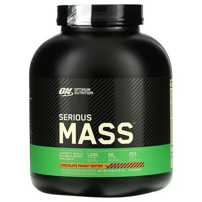 Купить Optimum Nutrition Serious Mass, Protein Powder Supplement, Chocolate Peanut Butter, 6 lb (2.72 kg)