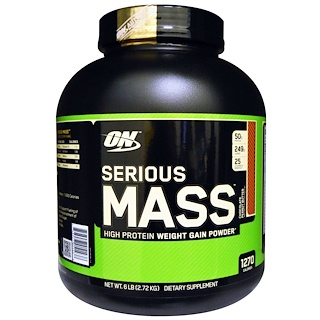 Optimum Nutrition, Serious Mass, Chocolate Peanut Butter, 6 lbs (2.72 kg)