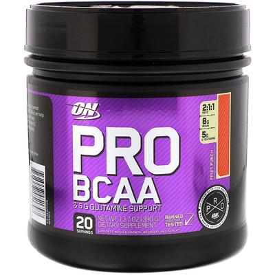 Pro BCAA, Fruit Punch, 20 servings, 13.7 oz (390g)