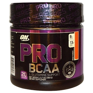 Optimum Nutrition, Pro BCAA, Fruit Punch, 13.7 oz (390 g)