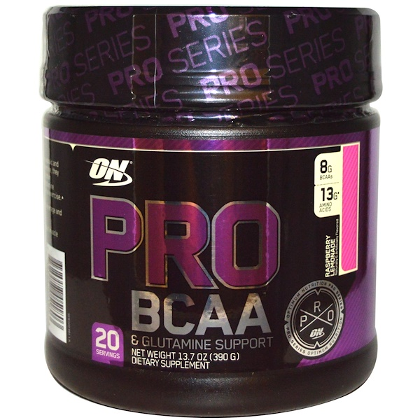 Optimum Nutrition, Pro BCAA, Raspberry Lemonade, 20 servings, 13.7 oz (390g)