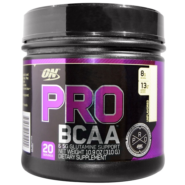 Optimum Nutrition, Pro BCAA, Unflavored, 10.9 oz (310 g) (Discontinued Item)