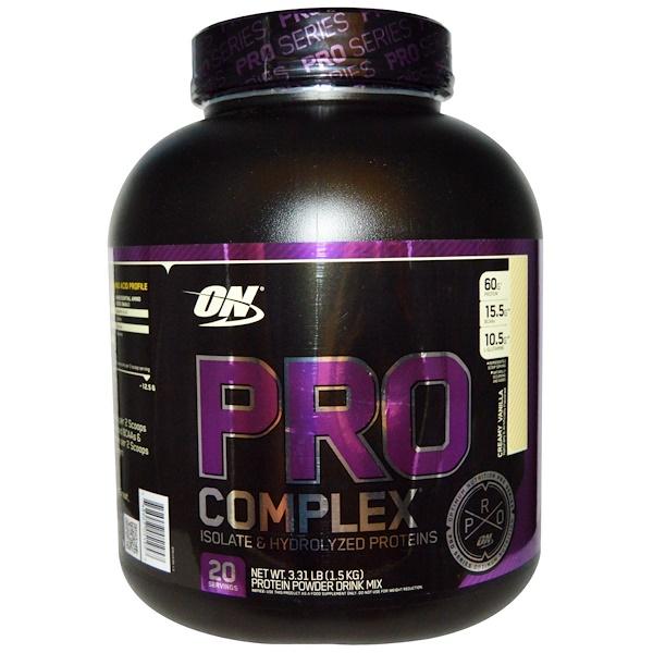 Optimum Nutrition, Pro Complex, Creamy Vanilla, 3.31 lbs (1.5 kg)