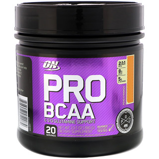 Optimum Nutrition, Pro BCAA, Peach Mango, 13.7 oz (390 g)