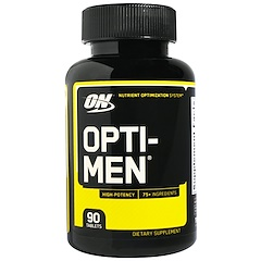 Optimum Nutrition, Opti-Men, нутриентная система питательных добавок, 90 таблеток