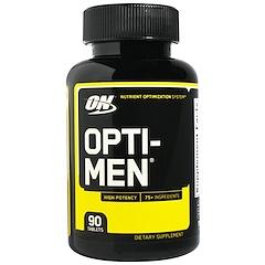 Optimum Nutrition, Opti-Men, Sistema Otimizador de Nutrientes, 90 comprimidos