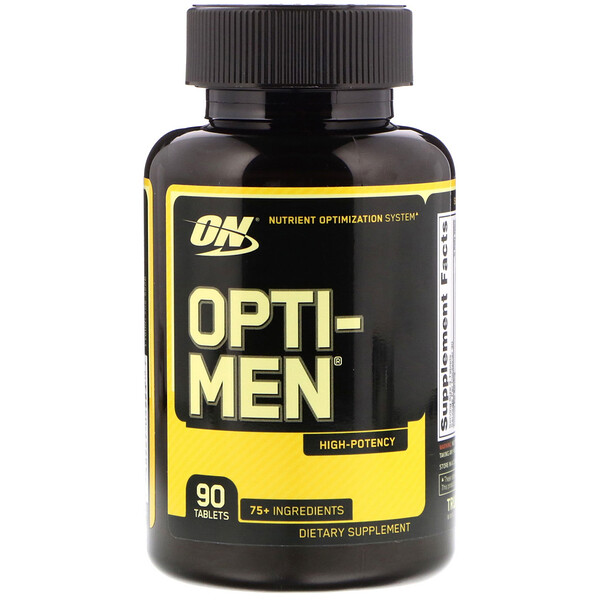 Optimum Nutrition, Opti-Men, Sistema de optimización de nutrientes, 90 pastillas