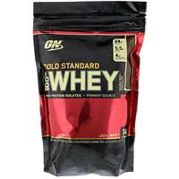 100%-ная молочная сыворотка «Золотой стандарт», двойной обильный шоколад, 1 фунт (454 г) - фото