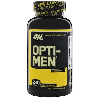 Optimum Nutrition, Opti-Men, 240 Таблетки