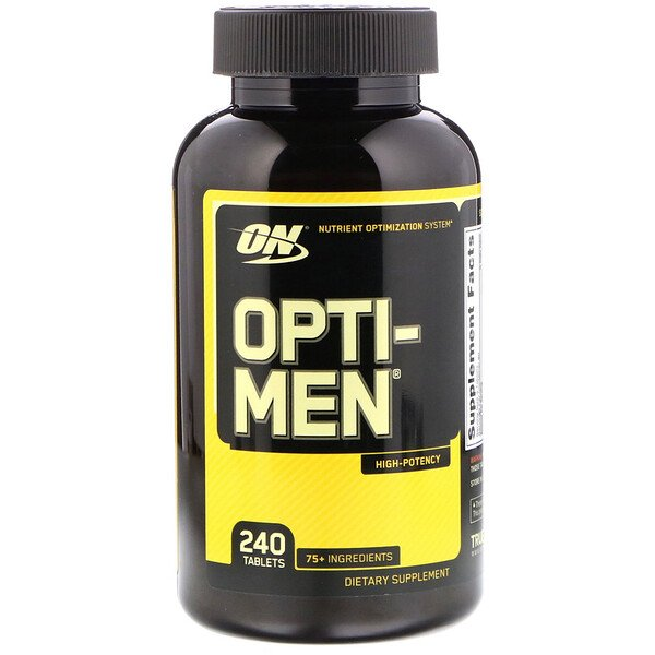 Optimum Nutrition, Opti-Men, 240 comprimidos