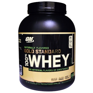 Optimum Nutrition, Gold Standard, 100% Whey, Natural, Chocolate, 4.8 lb (2.18 kg)