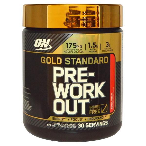 Optimum Nutrition, Gold Standard, Pre-Workout, Fruit Punch, 10.58 oz (300 g)