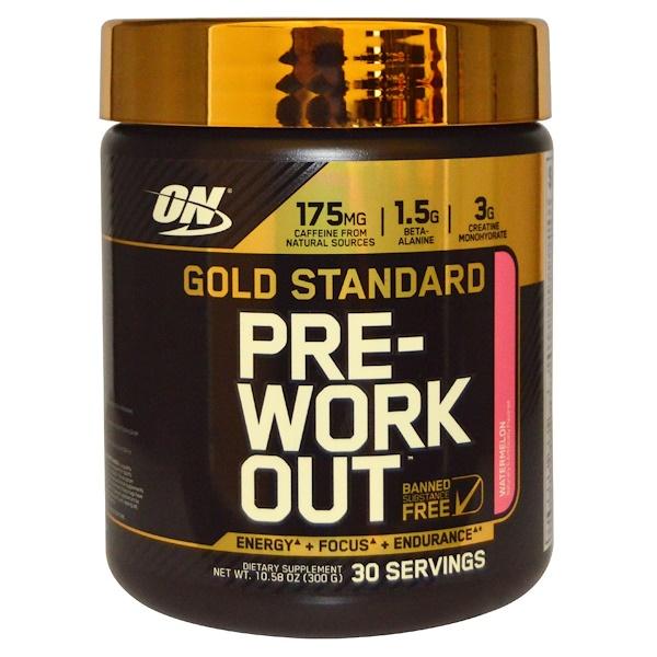 Optimum Nutrition, Gold Standard, Pre-Workout, Watermelon, 10.58 oz (300 g)