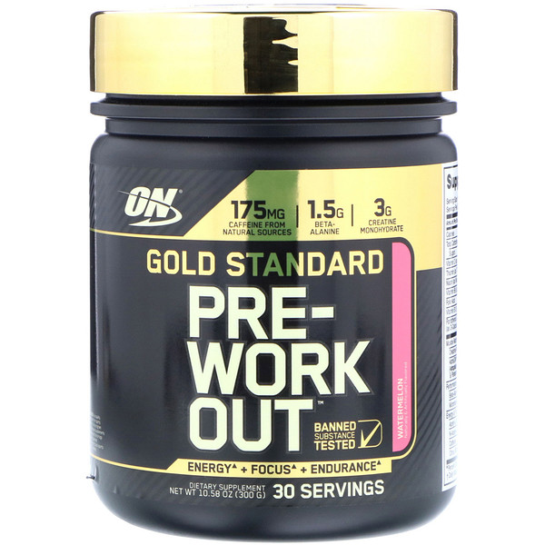 Optimum Nutrition, Gold Standard Pre-Workout, Watermelon, 10.58 oz (300 g) (Discontinued Item)