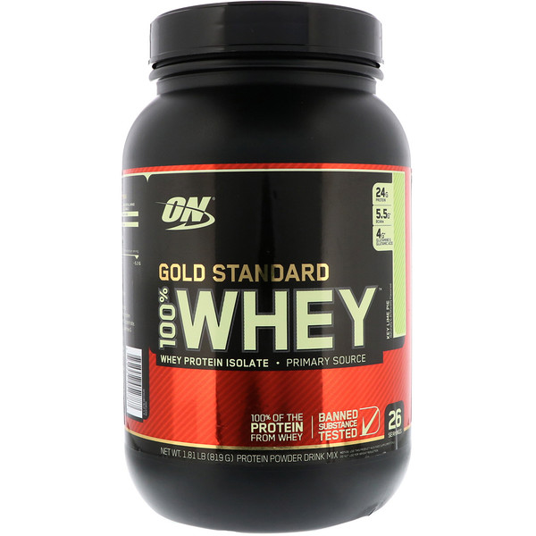 Optimum Nutrition, Gold Standard, 100% Whey, Key Lime Pie, 1.81 lb (819 g) (Discontinued Item)