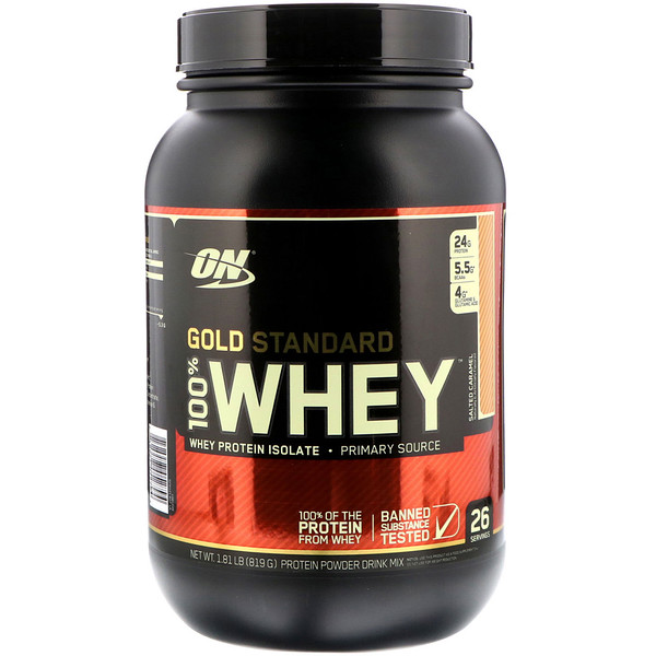 Optimum Nutrition, Gold Standard, 100 % lactosérum, Double chocolat, 2,27 kg