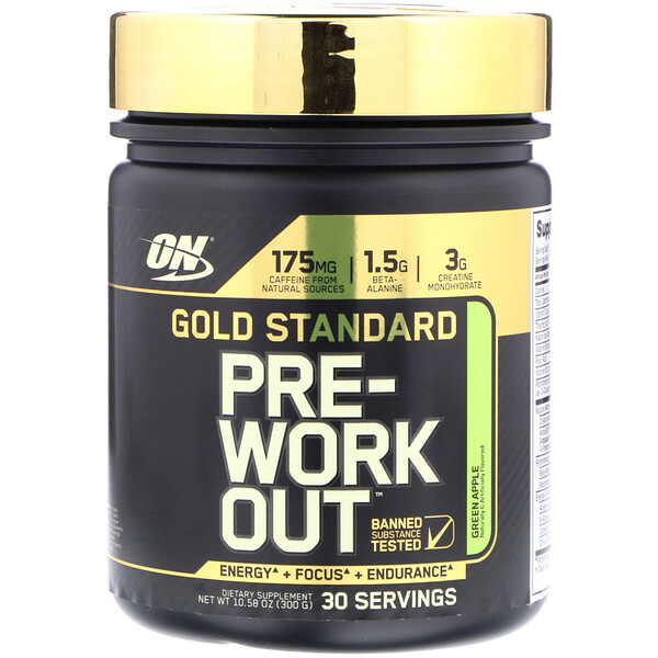 Gold Standard Pre-Workout, Green Apple, 10.58 oz (300 g)