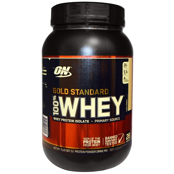 Optimum Nutrition, Gold Standard 100% Whey, Whey Protein Isolate, 2 lb (907 g)