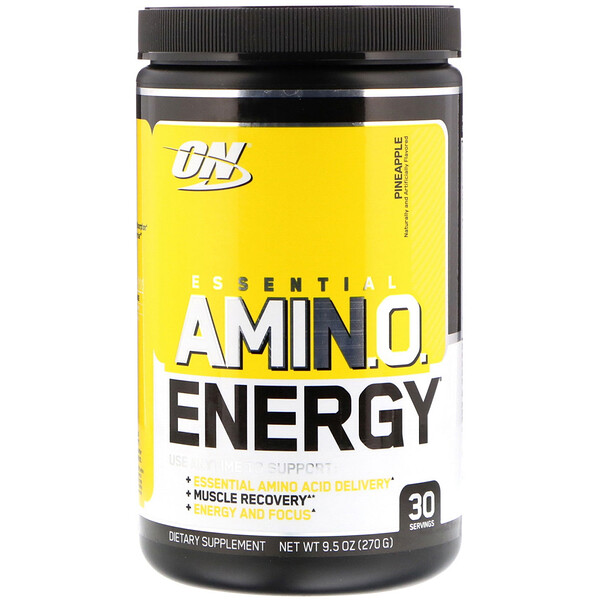 Optimum Nutrition, Essential Amino Energy, Abacaxi, 9,5 oz. (270 g.)