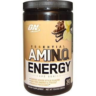 Optimum Nutrition, Essential Amino Energy, Iced Cafe Vanilla Flavor, 10.6 oz (300 g)