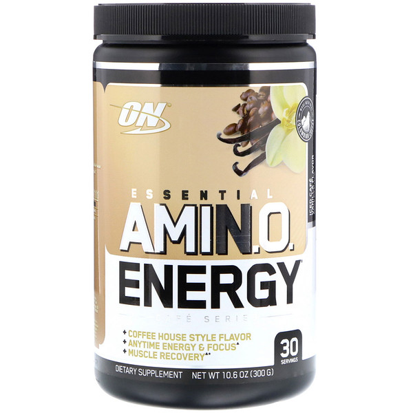 Optimum Nutrition, Essential Amin.O. Energy, Iced Cafe Vanilla Flavor, 10.6 oz (300 g) (Discontinued Item)