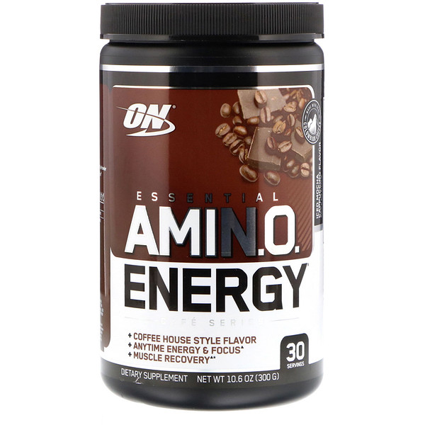 Optimum Nutrition, ESSENTIAL AMIN.O. ENERGY, Iced Mocha Cappucino Flavor, 10.6 oz (300 g)