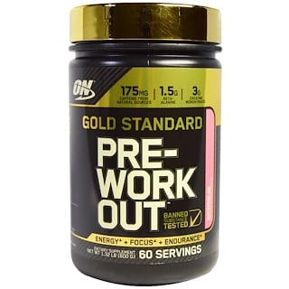 Optimum Nutrition, Gold Standard, Pre-Workout, Watermelon, 1.32 lb (600 g)