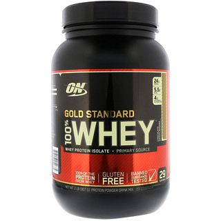 Optimum Nutrition, Gold Standard, 100% Whey, Chocolate Dipped Banana, 2 lb (907 g)