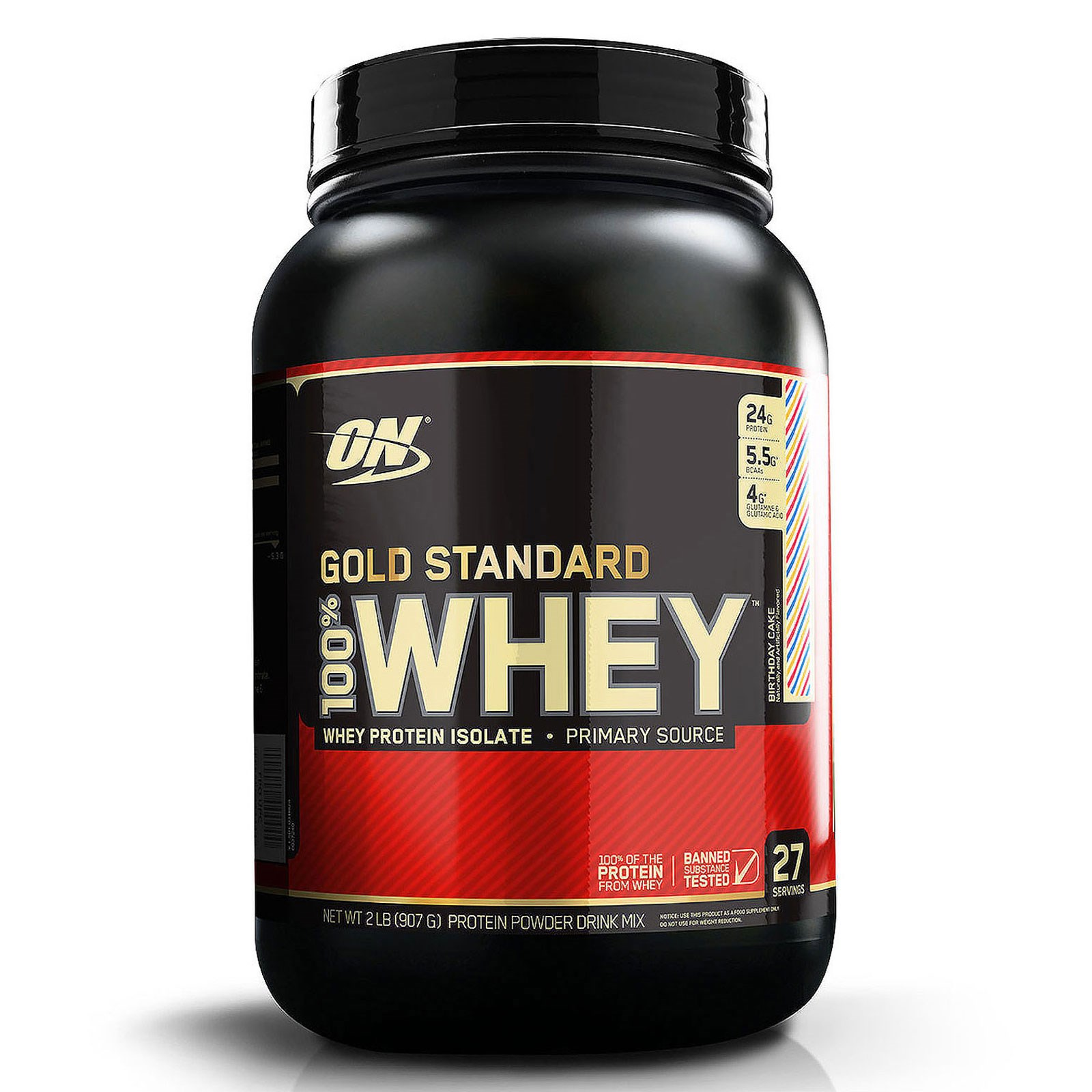 Optimum Nutrition Gold Standard 100 Whey Birthday Cake 2 Lb