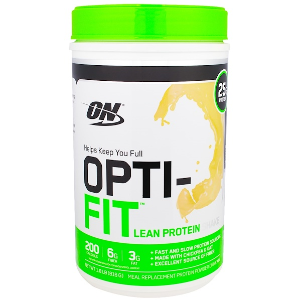 Optimum Nutrition, Opti-Fit Lean Protein Shake, Vanilla, 1.8 lb (816 g) (Discontinued Item)