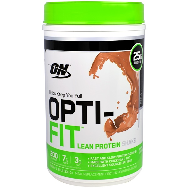 Optimum Nutrition, Opti-Fit Lean Protein Shake, Mocha, 1.83 lb (832 g) (Discontinued Item)