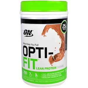 Оптимум Нутришэн, Opti-Fit Lean Protein Shake, Mocha, 1.83 lb (832 g) отзывы