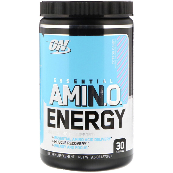 Optimum Nutrition, ESSENTIAL AMIN.O. ENERGY, Cotton Candy, 9.5 oz (270 g)
