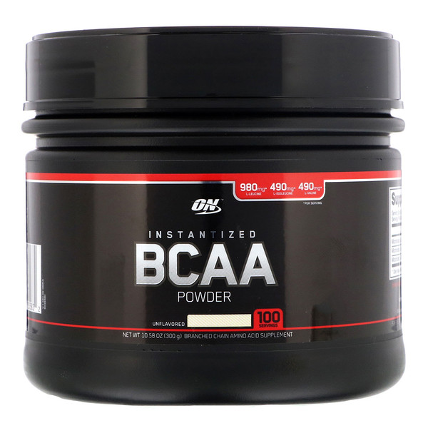 Optimum Nutrition, مسحوق إنستانتيزد BCAA، غير المنكه، 10.58 أوقية (300 جم) (Discontinued Item)