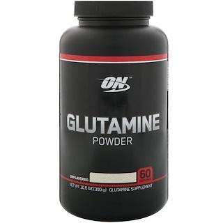 Optimum Nutrition, Glutamine Powder, Unflavored, 10.6 oz (300 g)
