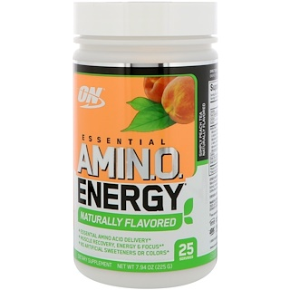 Optimum Nutrition, エッセンシャル・アミノエナジー、シンプルなピーチティー、7.94 oz (225 g)