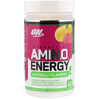Optimum Nutrition, Essential Amin.O. Energy, Simply Raspberry Lemonade, 7.94 oz (225 g)