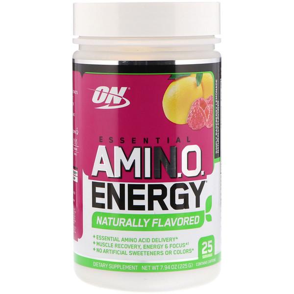 Optimum Nutrition, Essential Amin.O. Energy, Simply Raspberry Lemonade, 7.94 oz (225 g)