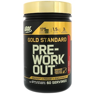 Optimum Nutrition, Gold Standard, Pre-Work Out, Fruit Punch, 1.32 lbs, (600 g)