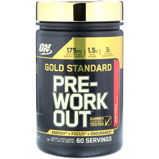 Optimum Nutrition, Gold Standard, Pre-Work Out, Fruit Punch, 1.32 lb, (600 g)