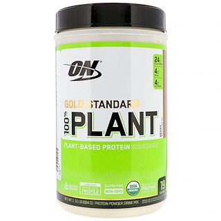 Optimum Nutrition, Gold Standard, 100% Plant-Based Protein, Berry, 1.51 lb (684 g)