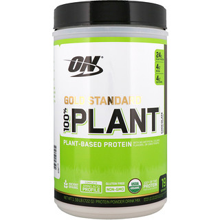 Optimum Nutrition, Gold Standard, 100% Plant-Based Protein, Chocolate, 1.59 lb (722 g)