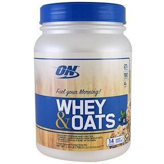 Optimum Nutrition, ホエイ & オート麦、ブルーベリーマフィン、1.54 lb (700 g)