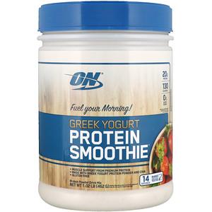 Оптимум Нутришэн, Greek Yogurt, Protein Smoothie, Strawberry, 1.02 lb (462 g) отзывы покупателей