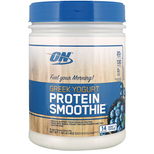 Оптимум Нутришэн, Greek Yogurt, Protein Smoothie, Blueberry, 1.02 lb (464 g) отзывы