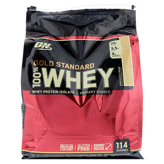 Optimum Nutrition, Gold Standard, 100% Whey, Vanilla Ice Cream, 7.79 lb (3.53 kg)