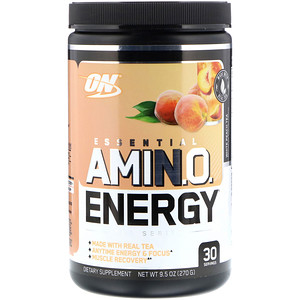 Оптимум Нутришэн, ESSENTIAL AMIN.O. ENERGY, White Peach Tea, 9.5 oz (270 g) отзывы покупателей
