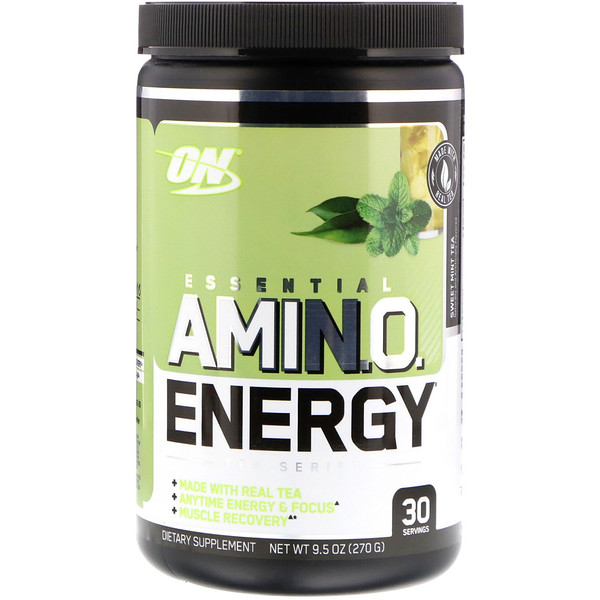 Optimum Nutrition, Essential Amin.O. Energy, Sweet Mint Tea, 9.5 oz (270 g) (Discontinued Item)